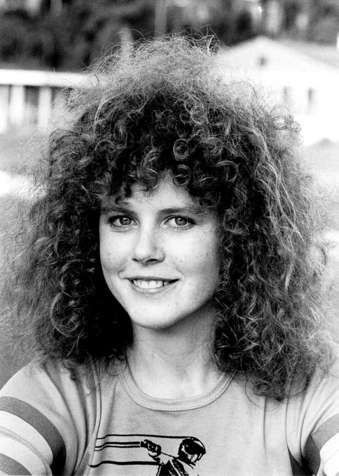 Glumica na početku karijere: slika iz 1983. godine