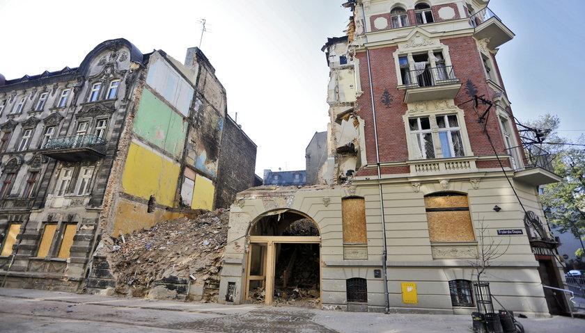 Katowice. Zawaliła się kamienica u zbiegu ulicy Sokolskiej i Chopina