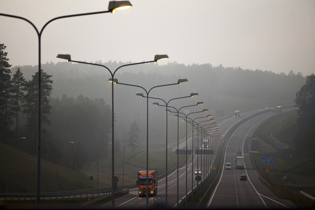 Autostrada A2 w okolicach Torzyma. 13.12.2013.