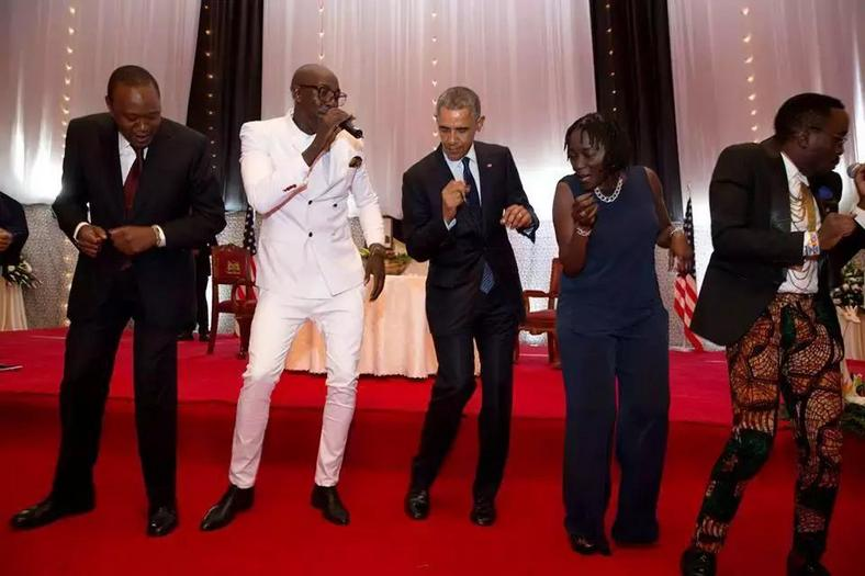 Sauti Sol at Sate House during the Obama Visit