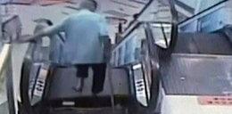 Ruchome schody zakleszczyły mężczyznę. Amputowano mu stopę