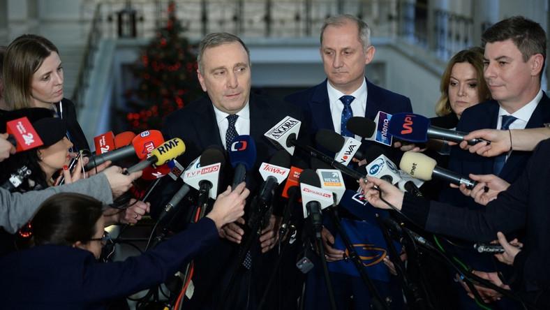 Grzegorz Schetyna, Sławomir Neumann i Jan Grabiec