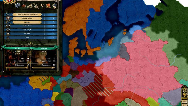 Europa Universalis 3 - kody do gry