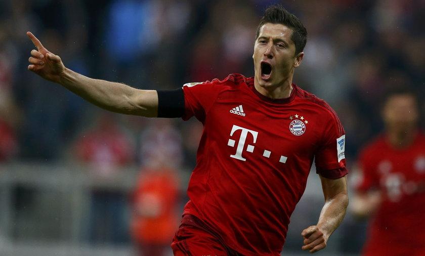 Robert Lewandowski Bayern Monachium vs VFL Wolfsburg