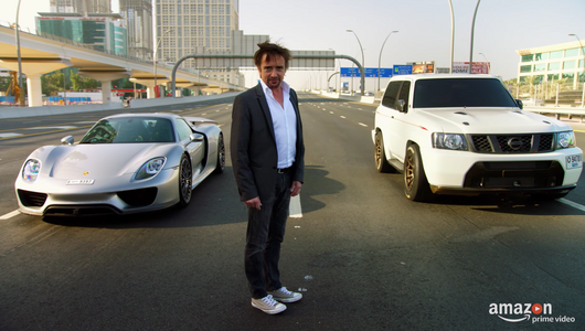 Porsche 918 Hybrid vs Nissan Patrol z Dubaju...