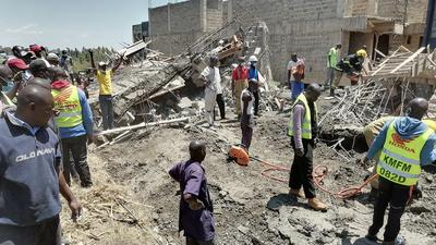 Over 20 people trapped after building collapsed in Kisumu