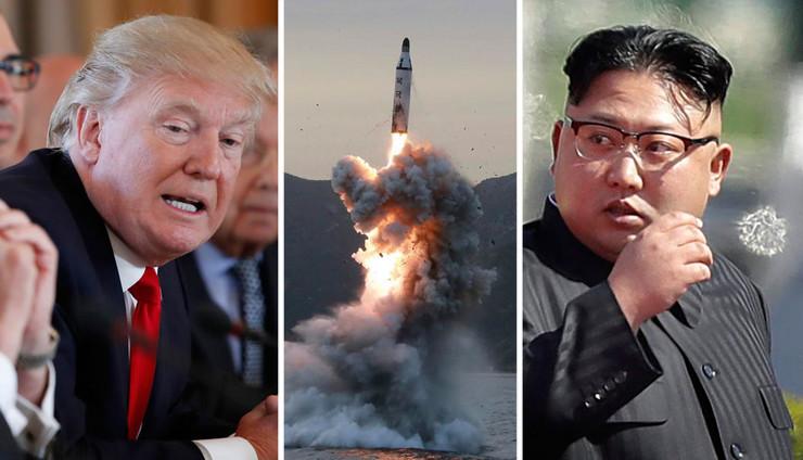 nuklearna raketa donald tramp kim džong un severna koreja