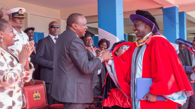 Dr. DP Ruto during his graduation with a Doctorate degree in Plant Ecology at UoN last year