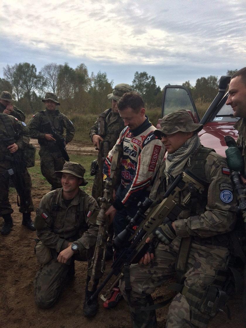 Wojskowy trening Adama Małysza