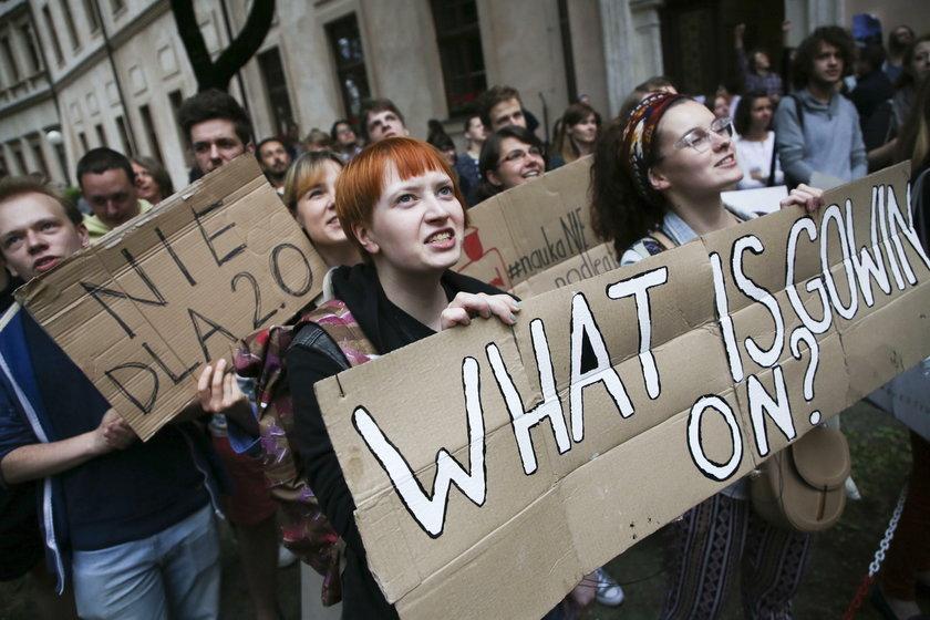 Protest przeciwko Ustawie 2.0 Jaroslawa Gowina