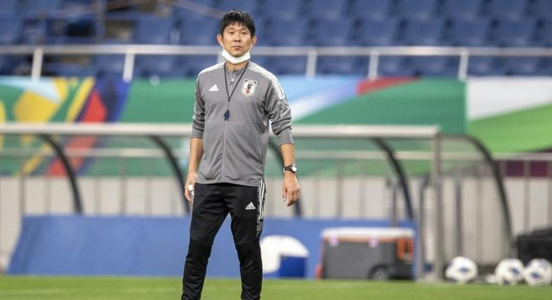 Japan manager Hajime Moriyasu has vowed to fight for a place at the 2022 World Cup Creator: Charly TRIBALLEAU