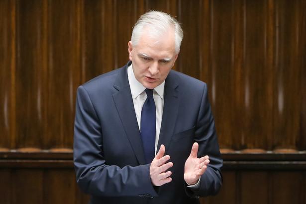 Wicepremier, minister nauki i szkolnictwa wyższego Jarosław Gowin podczas posiedzenia Sejmu