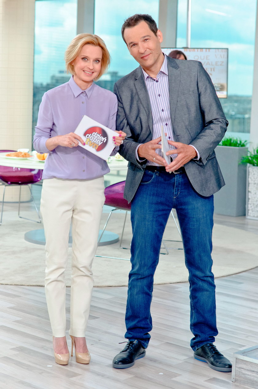 Jolanta Pieńkowska i Robert Kantereit