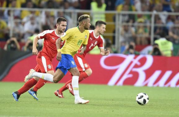 Nejmar u prodoru na meču Srbija - Brazil na šampionatu planete u Rusiji