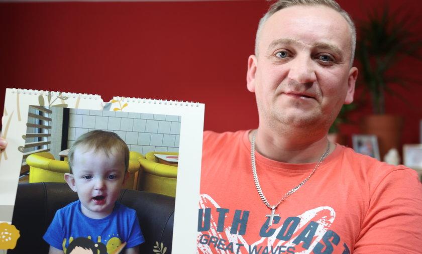 Marcin Przygodzki (38 l.), tata Michałka, nie traci nadziei, że synek odzyska zdrowie