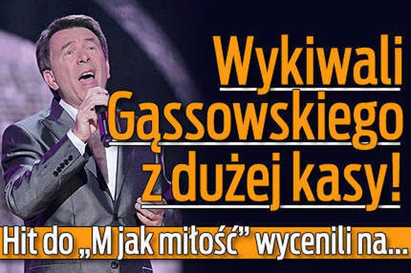 """Wykiwali Gąssowskiego z dużej kasy! Hit do """"M jak miłość"""" wycenili na..."""