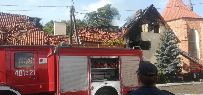 Pożar plebanii w Nowym Stawie pod Malborkiem. Nie żyje 60-letni ksiądz