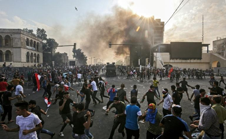 One person was killed and 200 wounded in Tuesday's protest in Baghdad, while another protester was killed in the south, health officials said