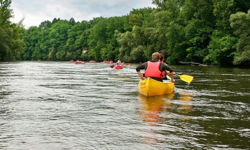 Groźny wypadek na spływie kajakowym na rzece Skawie