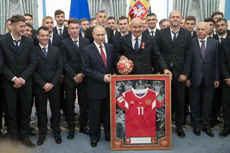 Fudbalska reprezentacija Rusije, Vladimir Putin