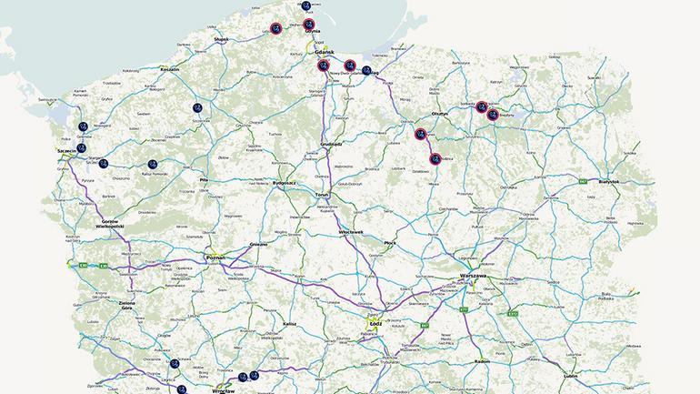 Mapa kontroli drogowych: popularne miejsca podczas wakacji w Polsce