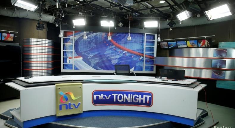 File image of an empty NTV studio