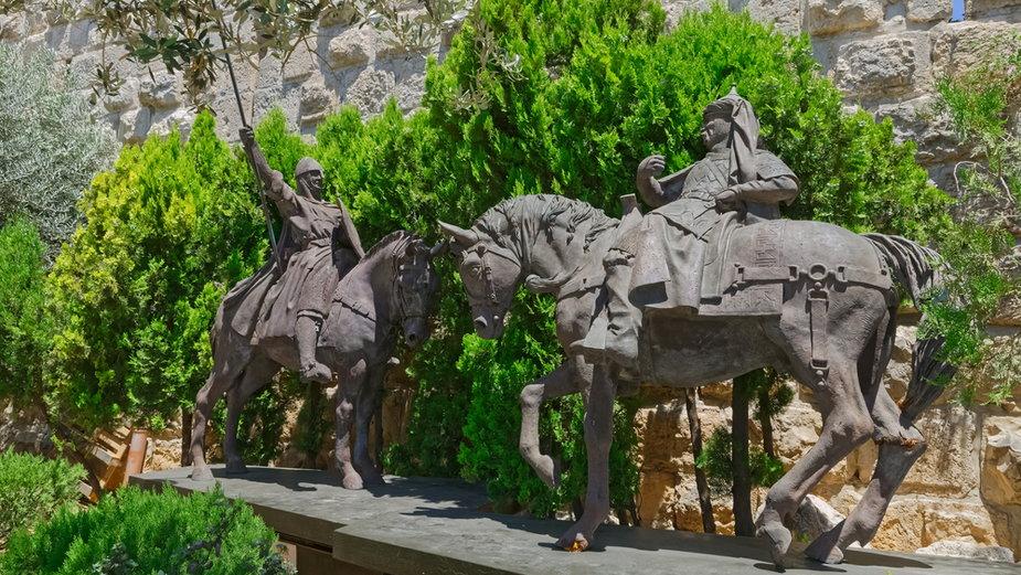 Pomnik Ryszarda Lwie Serce walczącego z Saladynem, Jerozolima
