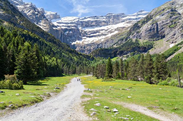 Pireneje, droga do cyrku lodowcowego w Gavarnie