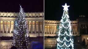 Choinka w Rzymie, uznana za najbrzydszą we Włoszech, została ponownie ubrana