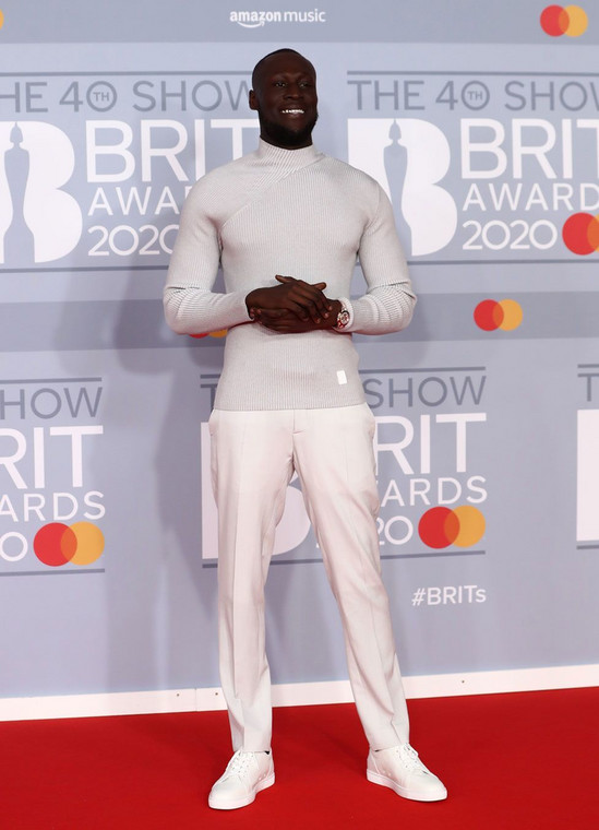 Stormzy at the 40th BRIT Awards Red Carpet [Reuters]