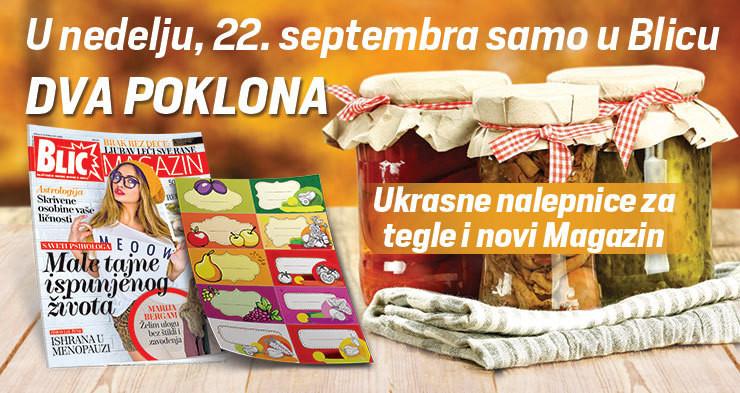Poklon uz Blic: Nalepnice za tegle