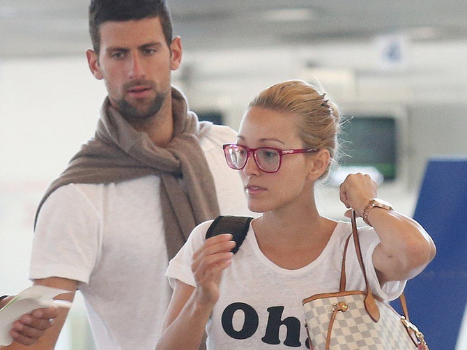 Jelena i Novak Đoković sa Pjerom