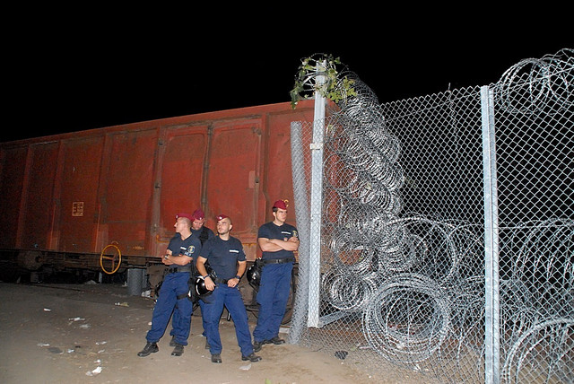 Ograda u mestu Reske postavljena je 2015. godine da bi psrečila ilegalan prelaz migranata