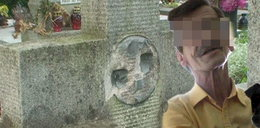 Lewy kamieniarz okradał groby