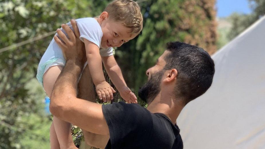 Palestyńczyk i dziecko