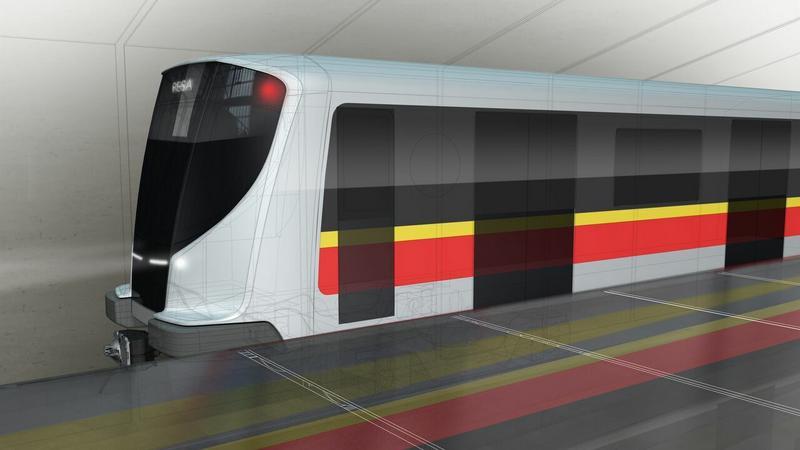 Wizualizacja pociągu metra zaprojektowanego przez PESA Bydgoszcz