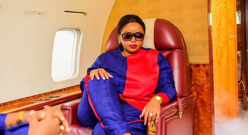 Rev Lucy Natasha in her jet (Instagram)