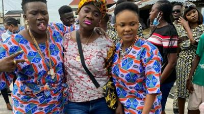 Toyin Abraham is back on set! Check out behind the scenes of 'The Ghost and the Tout' sequel