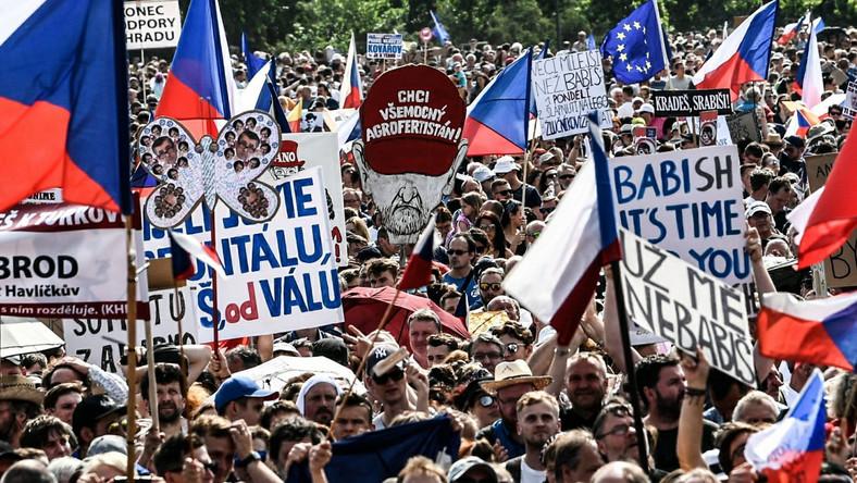 Demonstracje w Pradze