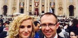 Posełdziwkarz z żoną w Watykanie