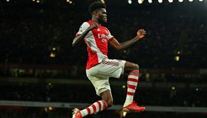 Arsenal midfielder Thomas Partey Creator: Glyn KIRK