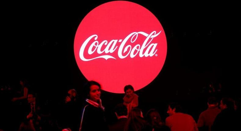 The Coca-Cola Company logo is pictured during a presentation in Paris, France, January 19, 2016. REUTERS/Benoit Tessier