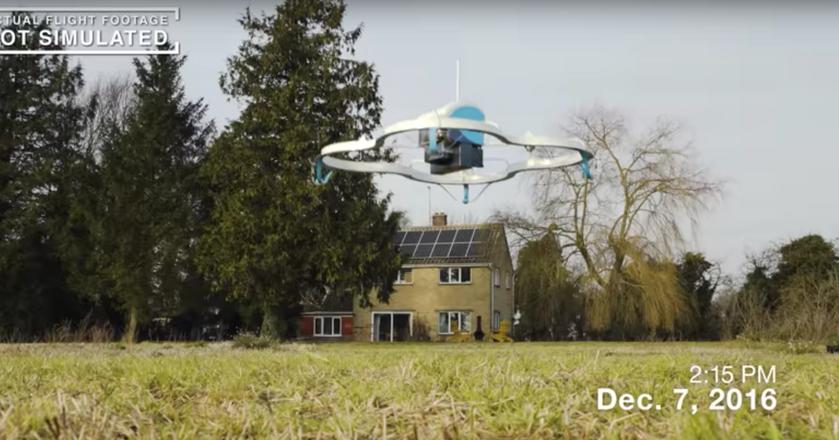 Dron dostarczył przesyłkę klientowi w 13 minut