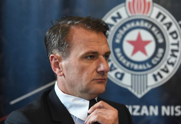 Predsednik KK Partizan Ostoja Mijailović