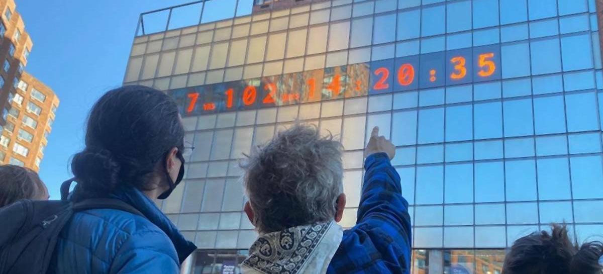 Słynny zegar w Nowym Jorku zaczął odliczać czas do katastrofy klimatycznej