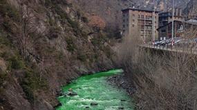 Rzeka zmieniła kolor na zielony, ale przyczyna okazała się całkiem niegroźna