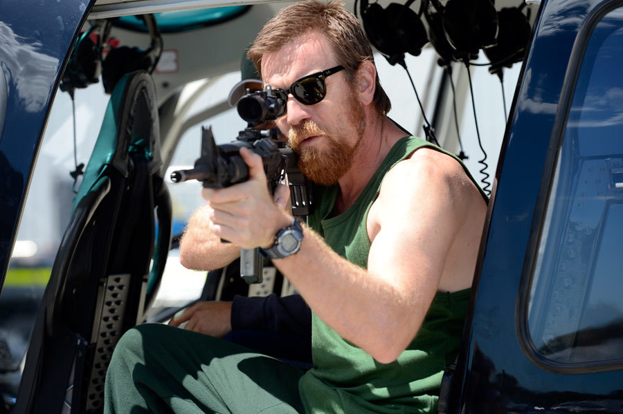 "Ewan McGregor jako Brendan Lynch w filmie ""Son of a Gun"" (2014)"