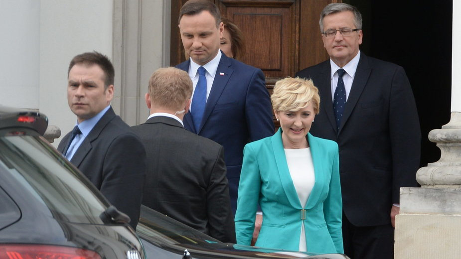Spotkanie Bronisława Komorowskiego i Andrzeja Dudy z małżonkami. 22.06.2015 r.