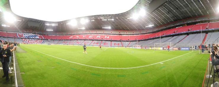 FK Crvena zvezda, poslednji trening pred okršaj sa FK Bajernom