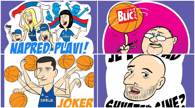 Stickeri za košarkaše